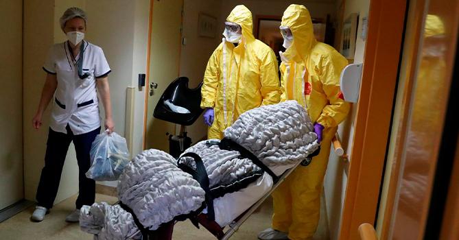 Во Франции еще 44 человека умерли от коронавируса