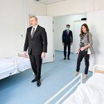 Ильхам Алиев и Мехрибан Алиева приняли участие в открытии первого больничного комплекса модульного типа в Баку