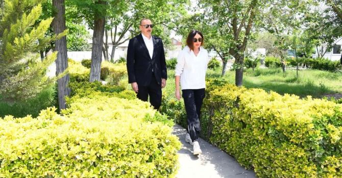 Ильхам Алиев находится с визитом в Шамахы