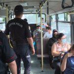 Контроль за ношением масок в автобусах в Баку усилен