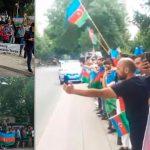 Около 200 молодых людей с азербайджанскими флагами в рукахпомешали шествию 30 армян в Варшаве