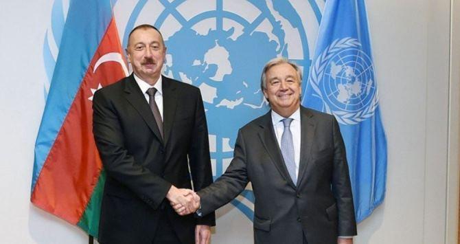 Президент Ильхам Алиев позвонил генсеку ООН