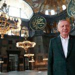 Эрдоган ознакомился с работами в мечети Айа-София