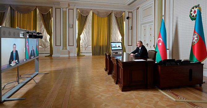 Ильхам Алиев в видеоформате принял Джейхуна Байрамова