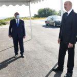 Президент Ильхам Алиев ознакомился с проектом реконструкции участка автомобильной дороги Баку-Шамахы- Муганлы-Исмаиллы-Габала