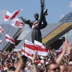 В Минске акция оппозиции собрала десятки тысяч людей и продолжалась более пяти часов