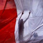 Жители Варшавы вышли на акцию в поддержку белорусской оппозиции