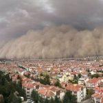 Песчаная буря вызвала ряд негативных последствий в Анкаре