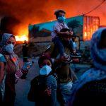 В Греции сгорел крупнейший лагерь мигрантов