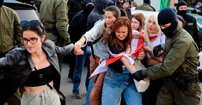 В Беларуси 20 сентября задержали 442 человека на акциях протеста