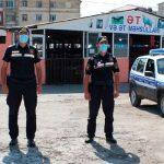 Полиция взяла под контроль рынок в Шеки