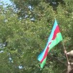 Флаг Азербайджана развевается на освобожденных территориях Джебраила - ВИДЕО