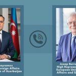 Джейхун Байрамов провел телефонный разговор с Верховным представителем ЕС