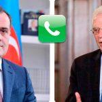 Джейхун Байрамов провел телефонный разговор с Джозефом Боррелем