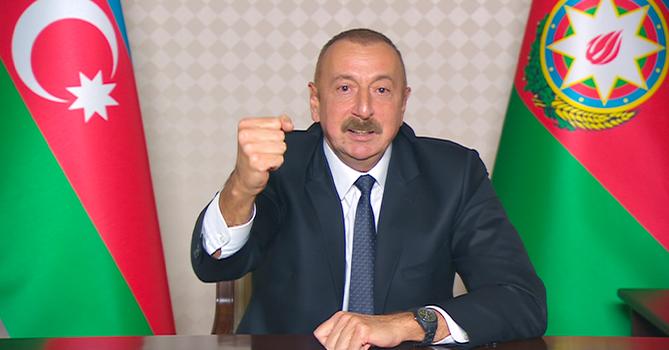 Ильхам Алиев: Мы наносим Армении поражение на поле боя, и они вынуждены бежать