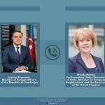 Состоялся телефонный разговор между Джейхуном Байрамовым и госминистром Великобритании
