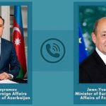 Главы МИД Азербайджана и Франции провели телефонный разговор