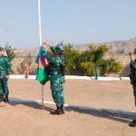 На освобожденных от оккупации погранзаставах поднят государственный флаг