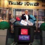 Берлинский музей мадам Тюссо поместил фигуру Трампа в мусорный бак