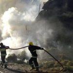 В Товузе в горной местности начался пожар