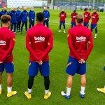 «Барселона» почтила память Марадоны минутой молчания перед тренировкой