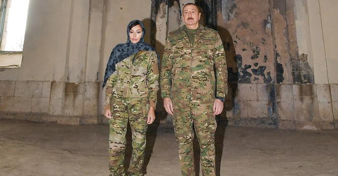 Ильхам Алиев и Мехрибан Алиева посетили освобожденный от оккупации город Агдам
