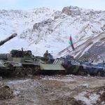 Видеокадры выдвижения подразделений ВС Азербайджана в освобожденный от оккупации Кяльбаджарский район