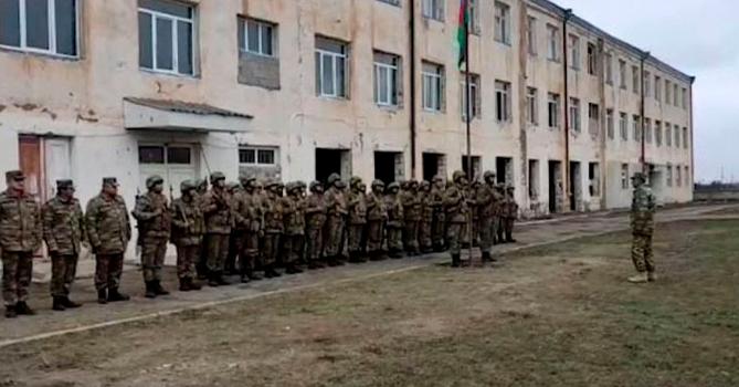 В селе Гюлаблы Агдамского района поднят флаг Азербайджана