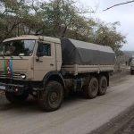 Российские миротворцы в Карабахе сопроводили автомобили с военнослужащими ВС Азербайджана