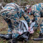 В зоне недавних боевых действий найдены останки еще одного армянского солдата