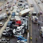 Смертельная авария: в Техасе столкнулось 100 машин, 5 погибших - ВИДЕО
