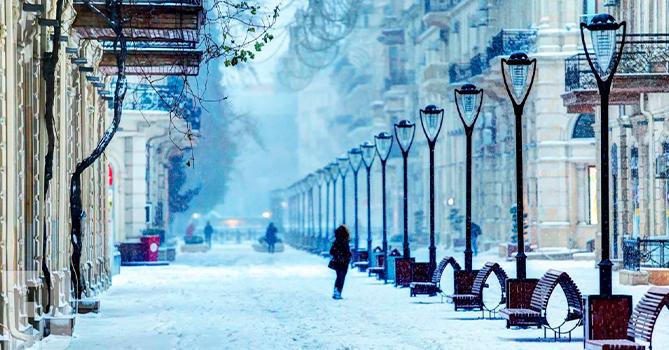 Самая низкая температура зафиксирована на северо-востоке Азербайджана