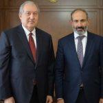 Саркисян и Пашинян обсудили возможность проведения досрочных выборов