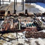 В результате профилактических мероприятий в Шуше обнаружено большое количество боеприпасов