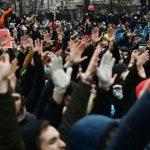 На акцию протеста в поддержку Навального в Москве вышли 6 тыс. человек