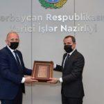 Джейхун Байрамов принял копии верительных грамот посла Сербии