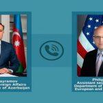 Джейхун Байрамов провел телефонный разговор с представителем Госдепа США