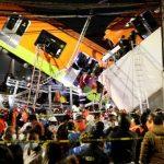 В Мехико обрушился метромост вместе с составом - Момент обрушения