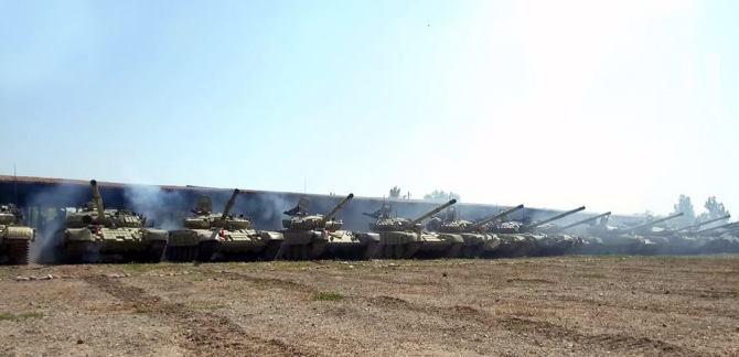 Привлеченные к учениям танковые подразделения ВС Азербайджана выполняют поставленные задачи — ВИДЕО