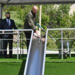 Ильхам Алиев заложил фундамент общеобразовательной школы номер 1 в Шуше