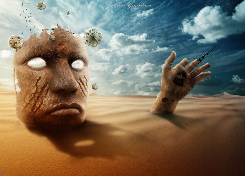 Maska v pustine